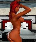 Chica pelirroja culona